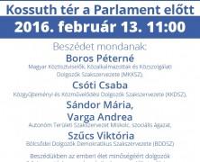 Tüntetés február 13-án – KKDSZ
