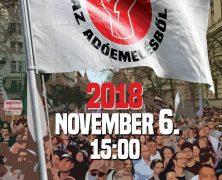 Tüntetés november 6-án 15 órától