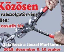 Felhívás a december 8-i demonstrációra